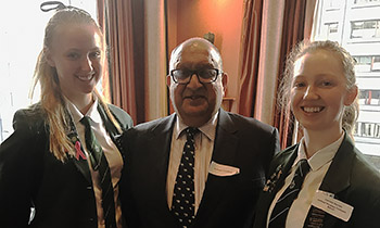Marsden students with former Governor General