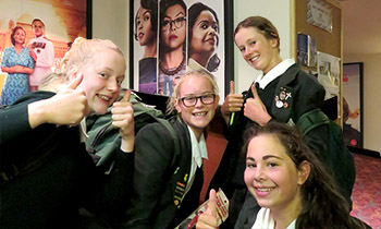 Marsden Y10 students give Hidden Figures the big thumbs up