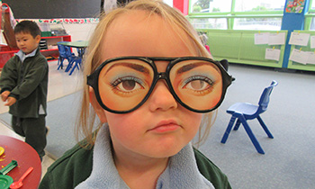 Marsden Preschool discover crazy glasses