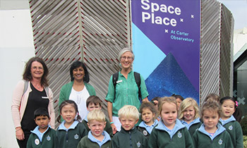 Marsden Preschool visits Space Place at Carter Observatory