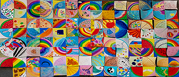 Marsden's 'Circle of Friendship' created by students on Experience Marsden Day