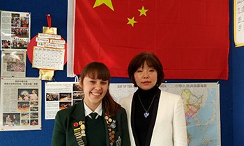 Marsden student Amy Cooper with teacher Jing Ying Herrington off to 2017 Chinese Debating Forum