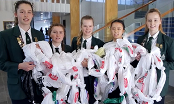 Marsden Y13 Social Action Committee highlight the number of plastic bags we use per second
