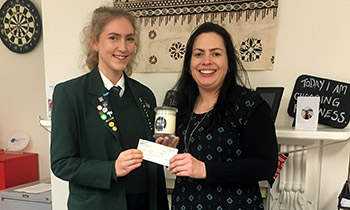 Marsden student Brigitte Russell fundraising for a Candles for a Cure